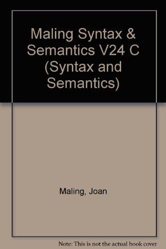 9780126135244: Modern Icelandic Syntax (Syntax and Semantics)