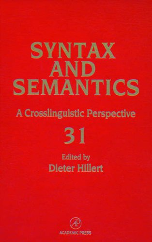9780126135312: Syntax and Semantics, Volume 31: A Cross-Linguistic Perspective: Sentence Processing (Syntax and Semantics)