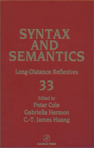 9780126135336: Long Distance Reflexives, Volume 33 (Syntax and Semantics) (Syntax and Semantics)
