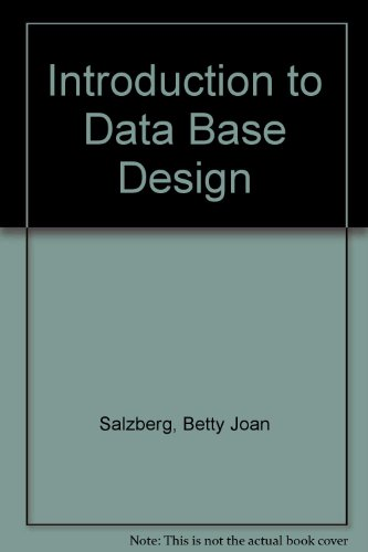 9780126168723: Introduction to Data Base Design