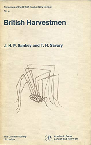 9780126190502: British Harvestmen: Arachnida - Opiliones (Synopses of the British Fauna, New Series)