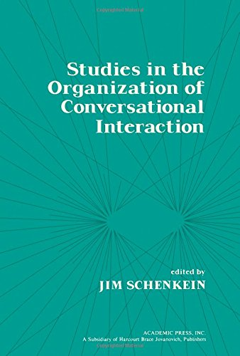 9780126235500: Studies in the Organization of Conversational Interaction (Language, thought, and culture)