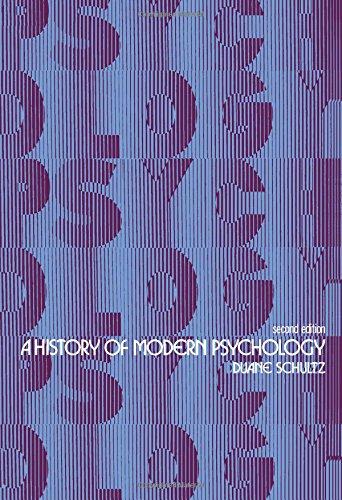 9780126330427: A History of Modern Psychology