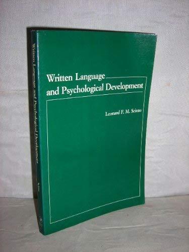 9780126332513: Written Language and Psychology Development