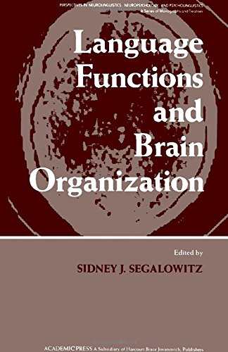 9780126356403: Language Functions and Brain Organization (Perspectives in neurolinguistics, neuropsychology, and psycholinguistics)