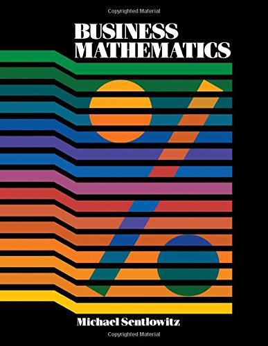 9780126366600: Business Mathematics