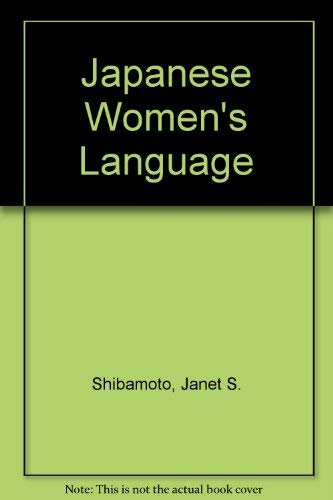 9780126400304: Japanese Women's Language