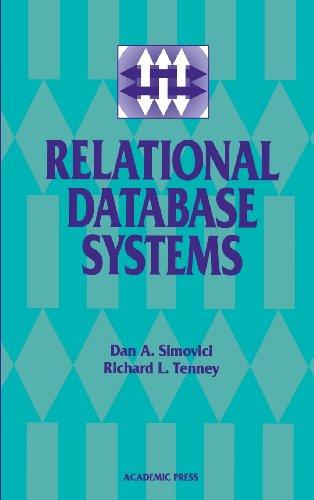 Relational Database Systems: Dan A. Simovici,