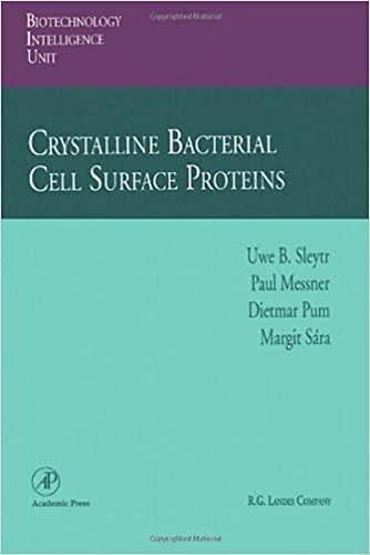 Crystalline Bacterial Cell Surface Proteins: Sleytr, Uwe B.; Messner, Paul; Pum, Dietmar; Sara, ...