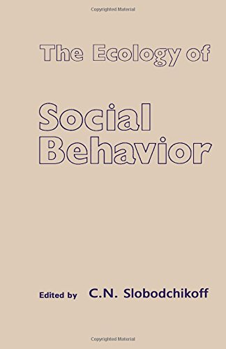 9780126487800: The Ecology of Social Behavior
