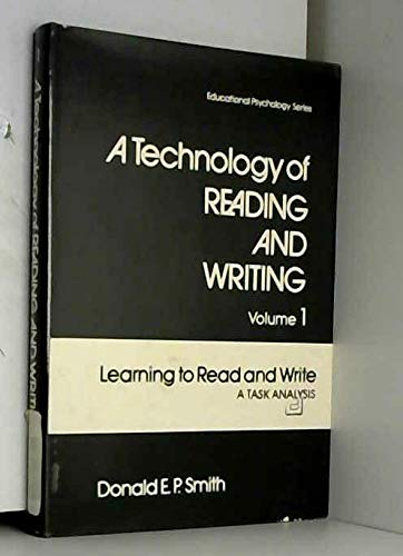 9780126517019: Technology of Reading and Writing: Learning to Read and Write - Task Analysis v. 1 (Educational Psychology Series)