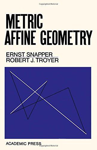 9780126536508: Metric Affine Geometry