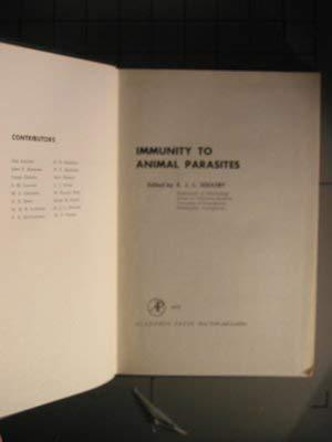 Immunity to Animal Parasites