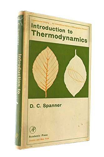 9780126560503: Introduction to Thermodynamics