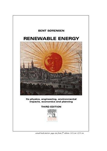 9780126561500: Renewable Energy (Energy science and engineering)