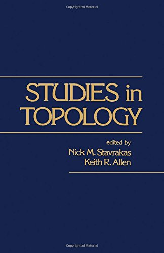 9780126634501: Studies in Topology