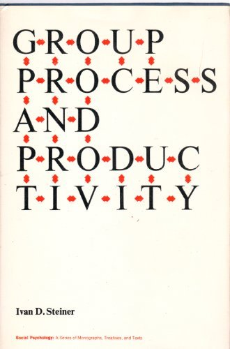 Group Process and Productivity (Social Psychological Monograph): Ivan D. Steiner