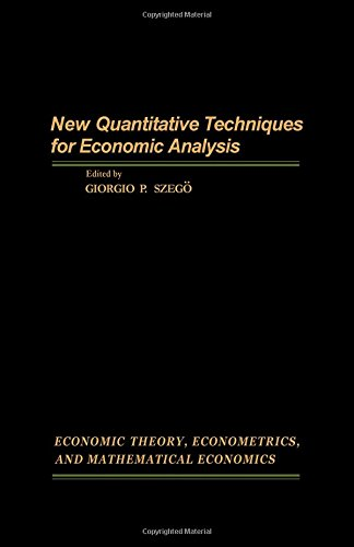 New Quantitative Techniques for Economic Analysis (ECONOMIC THEORY, ECONOMETRICS, AND MATHEMATICA...