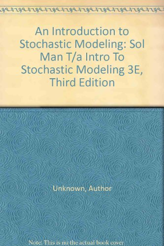 9780126848885: Solutions to Problems in an Introduction to Stochastic Modelling
