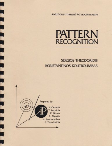 9780126861419: Solutions Manual T/a Pattern Recognition