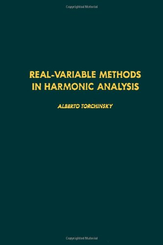 9780126954609: Real-variable methods in harmonic analysis, Volume 123 (Pure and Applied Mathematics)