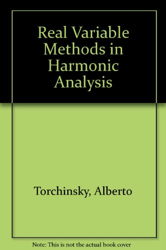 9780126954616: Real-Variable Methods in Harmonic Analysis