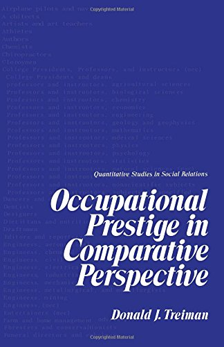 9780126987508: Occupational Prestige in Comparative Practice (Quantitative studies in social relations)