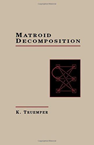 9780127012254: Matroid Decomposition