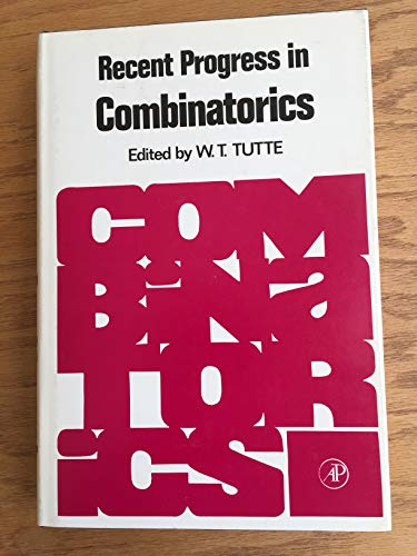 9780127051505: Recent Progress in Combinatorics