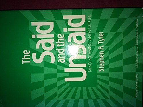 9780127055503: The Said and the Unsaid: Mind, Meaning and Culture (Language, thought and culture)