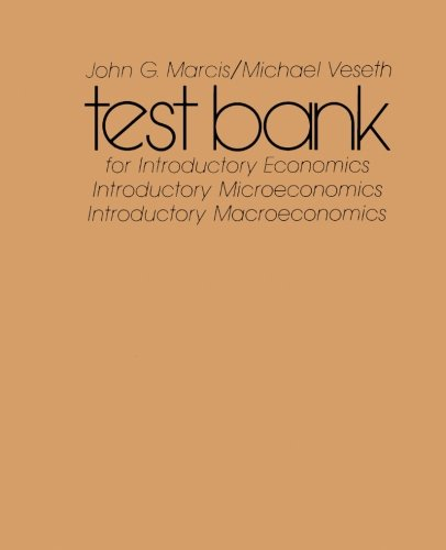 9780127195674: Test Bank for Introductory Economics and Introductory Macroeconomics and Introductory Microeconomics