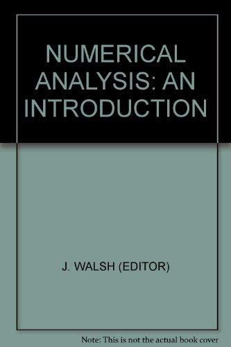 9780127338507: NUMERICAL ANALYSIS: AN INTRODUCTION