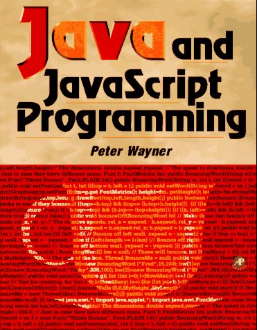 9780127387697: Java and Javascript Programming
