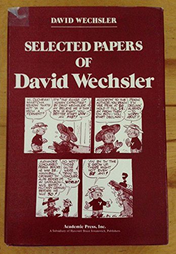 9780127412504: Selected Papers of David Wechsler