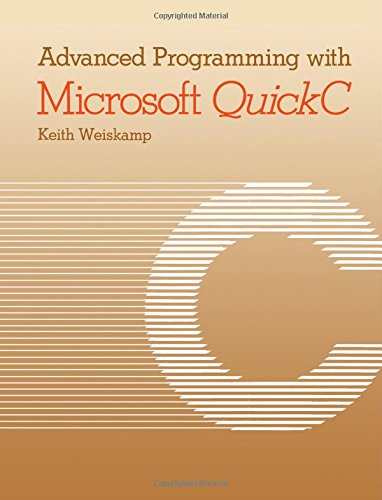 9780127426846: Advanced Programming With Microsoft Quickc