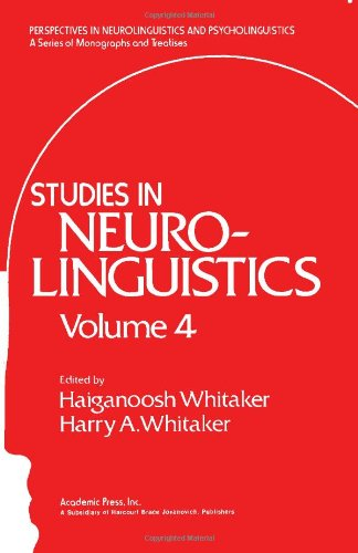 9780127463049: Studies in Neurolinguistics. Volume 4 (v. 4)