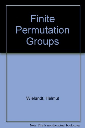9780127496566: Finite Permutation Groups