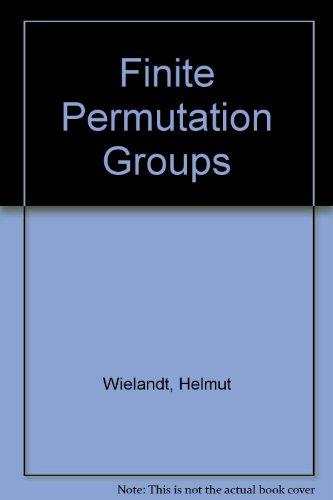 9780127496566: Finite Permutation Groups