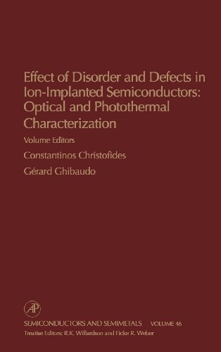 9780127521466: Effect of Disorder and Defects in Ion-Implanted Semiconductors: Optical and Photothermal Characterization, Volume 46 (Semiconductors and Semimetals)