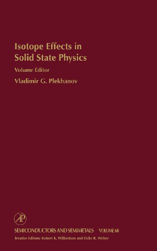 9780127521770: Isotope Effects in Solid State Physics, Volume 68 (Semiconductors and Semimetals)