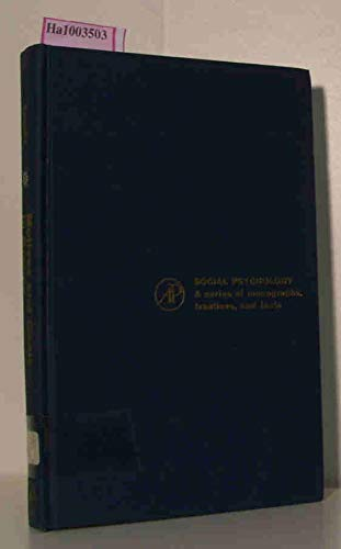 9780127755502: Motives and Goals in Groups (Social Psychology Monographs)