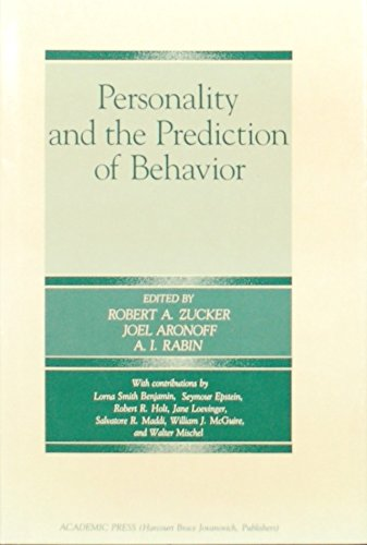 9780127819013: Personality and the Prediction of Behavior (The Michigan State University Henry A. Murray lectures in personality)