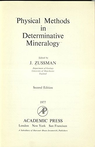 9780127829609: Physical Methods in Determinative Mineralogy