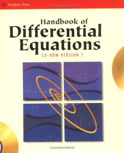 9780127843971: Handbook of Differential Equations (CD-ROM Version 1 only), Third Edition (Handbook of Development Economics)