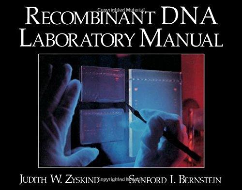 Recombinant DNA Laboratory Manual: Zyskind, Judith W.,