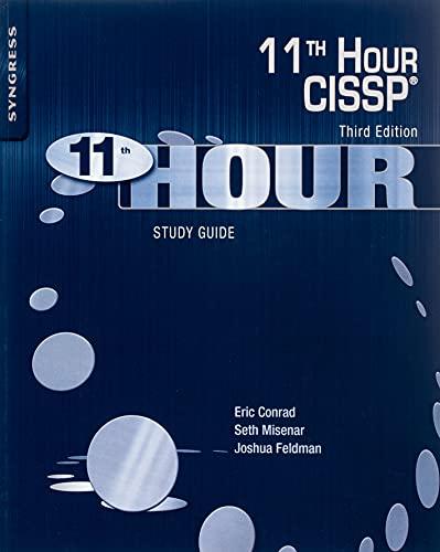 9780128112489: 11th Hour CISSP: Study Guide