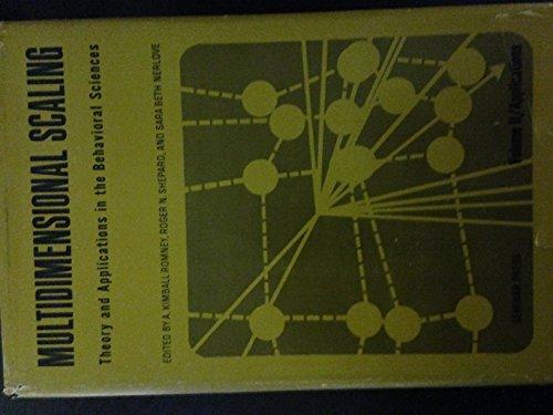 9780129104025: Multidimensional Scaling, Vol. 2: Applications (v. 2)