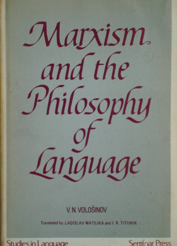 9780129301509: Marxism and the Philosophy of Language: Studies in Language