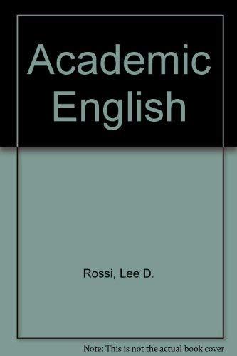 9780130009500: Academic English