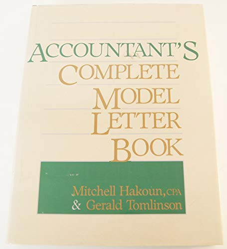 9780130011992: Accountant's Complete Model Letter Book